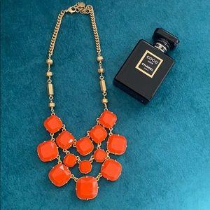 Stella & Dot orange gold necklace